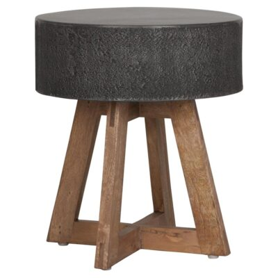 Black granite top stool Himalaya by Must Living