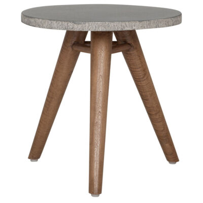 White granite top table Mount Everest by Must Living