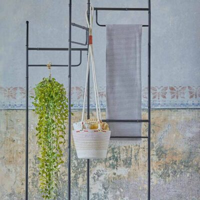 pink plant hanger in cotton by EDG