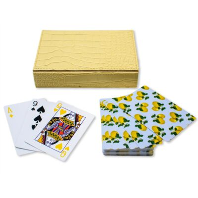 playing card capri lemons by Casacarta