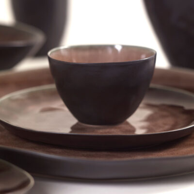 pure tableware bowl medium brown by Pascal Naessens, Serax