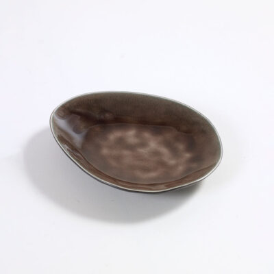 pure tableware plate oval small brown by Pascal Naessens, Serax
