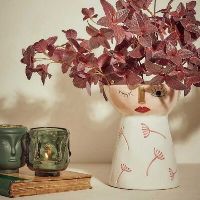 pink vase face by EDG