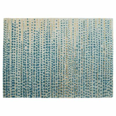 spotted grey and blue rug Brume by Toulemonde