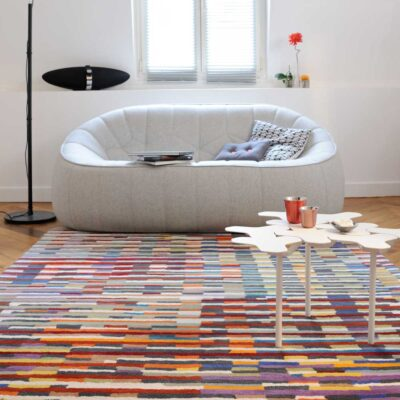 geometric colourful Cinetic rug by Toulemonde