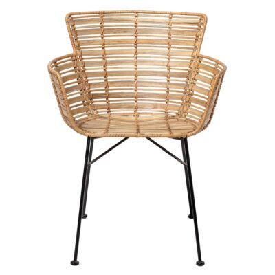 Lounge Chair Rattan with black legs by Bloomingville