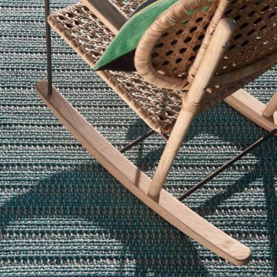outdoor blue Cordou rug by Toulemonde
