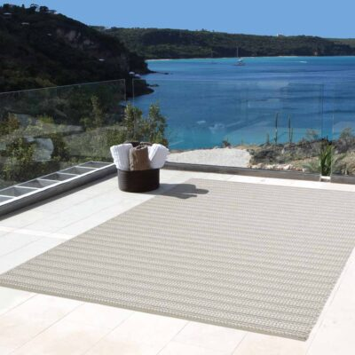 outdoor natural Cordou rug by Toulemonde