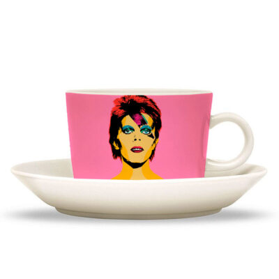 David Bowie cup and saucer by Artwow