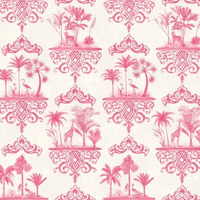 Folie Rousseau exotic palm trees and animals wallpaper by Cole & Son