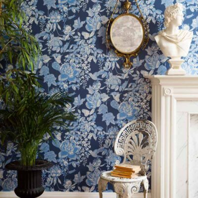 Folie Tivoli floral wallpaper by Cole & Son