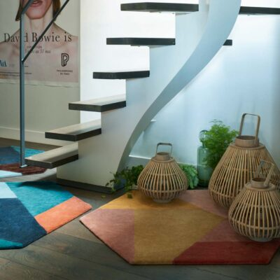 colourful Hexa rug by Toulemonde