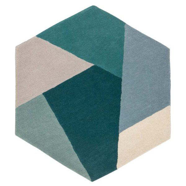 blue Hexa rug by Toulemonde