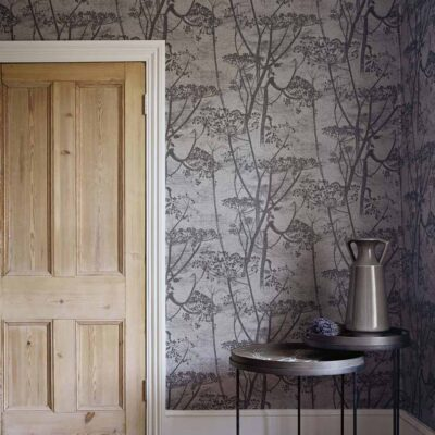 Black Icons Cow Parsley wallpaper by Cole & Son