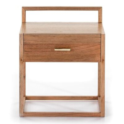 Jeddah bedside table wood natural velled by Latzio