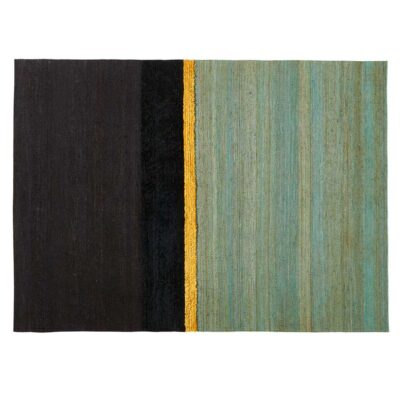 black and green stripes Marrakech rug by Toulemonde