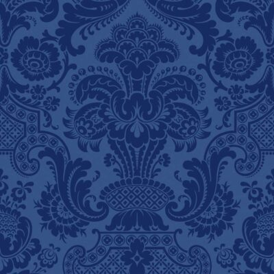 blue Damask Petrouchka wallpaper by Cole & Son