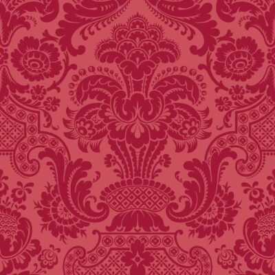red Damask Petrouchka wallpaper by Cole & Son