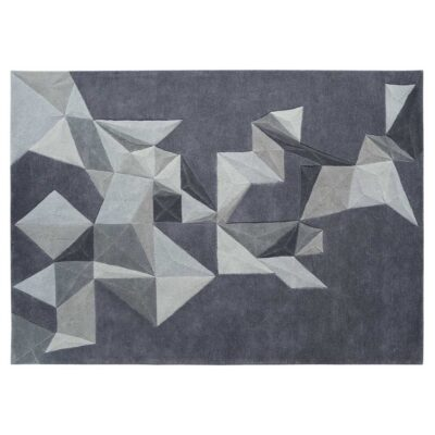 grey Pliages rug by Toulemonde