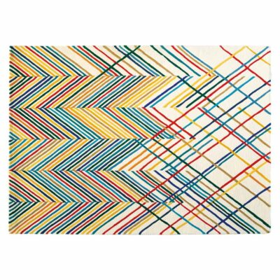 colourful chevron Spike rug by Toulemonde