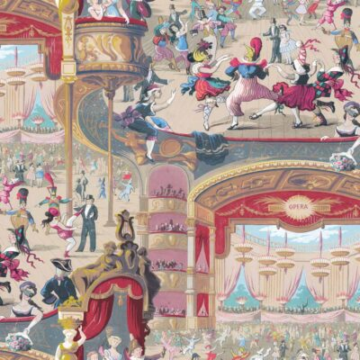 Whimsical Cabaret wallpaper by Cole & Son