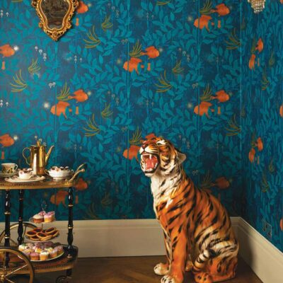 Whimsical Nautilus wallpaper by Cole & Son