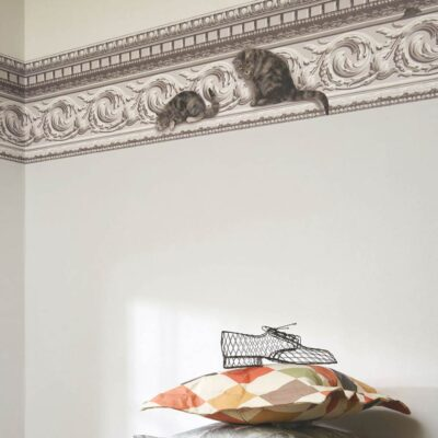 Whimsical Paddy & Louis cats Border wallpaper by Cole & Son