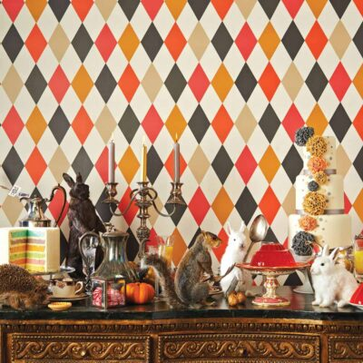 Whimsical Punchinello wallpaper by Cole & Son