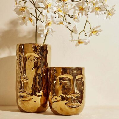 face vase gold by EDG