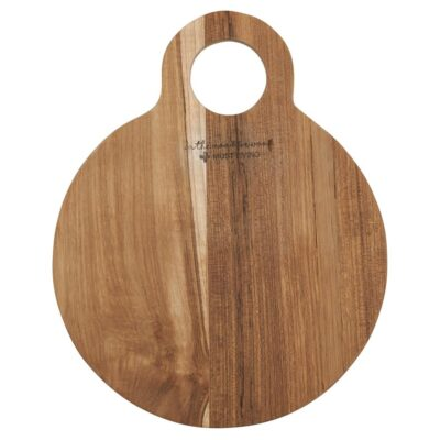 round teak wood bread board by Must Living