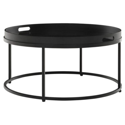 black round coffee table Golden Fiber large by Must Living