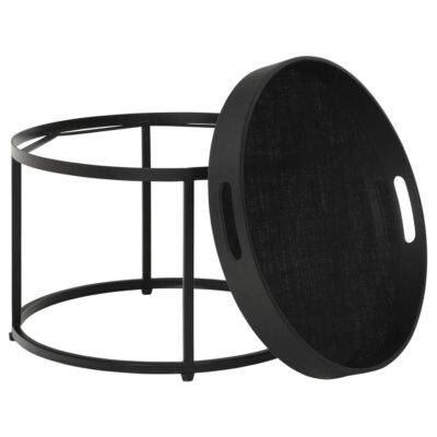 black round coffee table Golden Fiber Small by Must Living