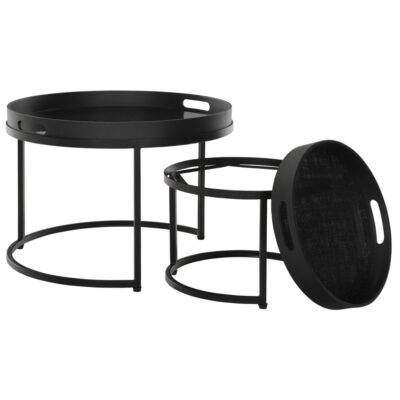 black round table set Golden Fiber by Must Living
