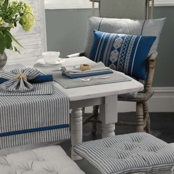 Hampton stripes rectangular cushion