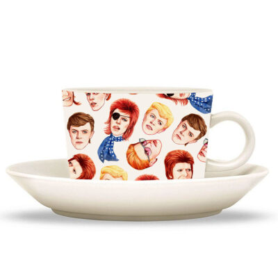 cup and saucer with David Bowies head