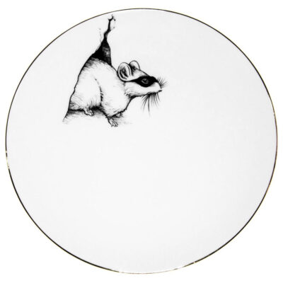 Mouse in the house plate by Rory Dobner