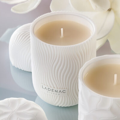 Royale candle fleur blanche by Ladenac