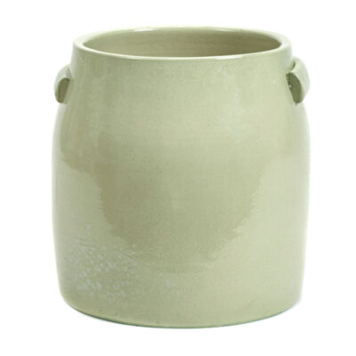stoneware flower pot green jars by Serax