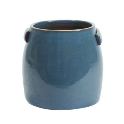 stoneware flower pot blue jars by Serax