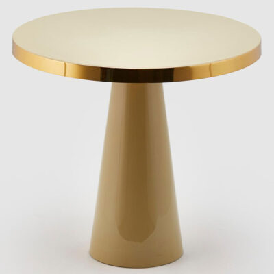 round side table aluminium sage by EDG