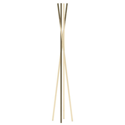 handmade gold metallic structure hanger by Laskasas