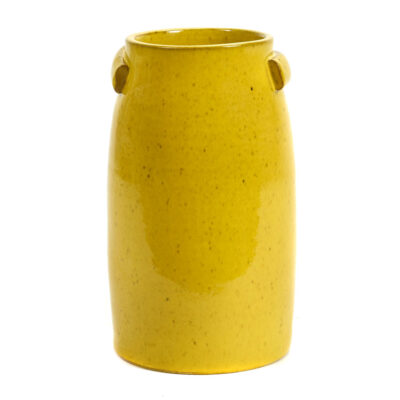 stoneware vase yellow jars by Serax