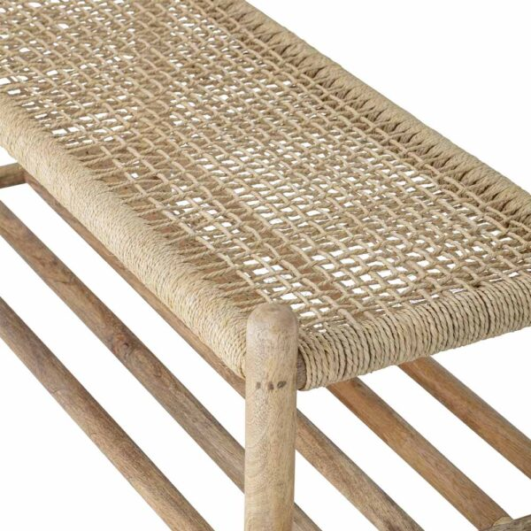 wooden Bench with coat hanger by Bloomingville