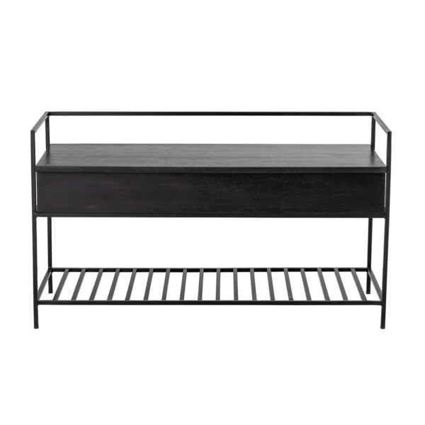 black wooden Bench by Bloomingville