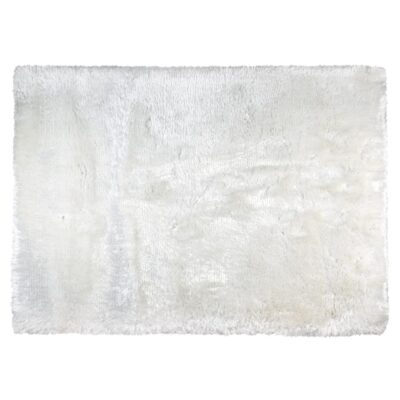 Handmade handwoven Adore white rug by Ligne Pure
