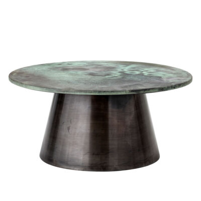 round Coffee Table with green top by Bloomingville