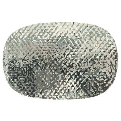Apidea silver oval rug designed by Samuel Accoceberry by Toulemonde Bochart