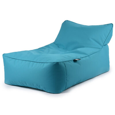 B BED blue pouffe outdoor by extreme lounging