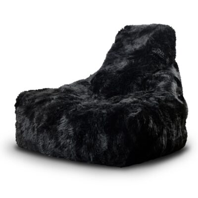 Pouffe B Bag Fur Mighty Black by Extreme Lounging