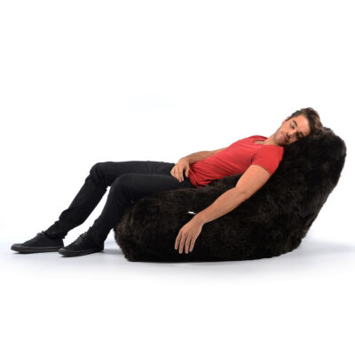 Pouffe B Bag Fur Mighty Brown by Extreme Lounging